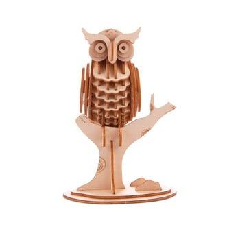 Puzzle 3D din lemn de balsa Kikkerland Owl de la Kikkerland