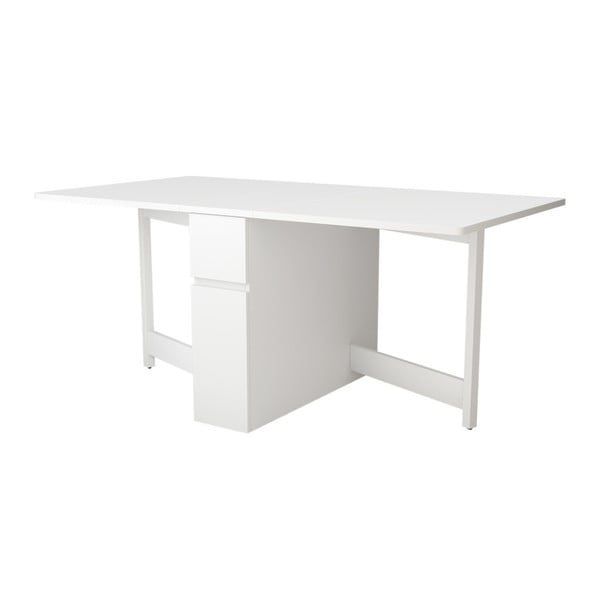 Kungla fehér többfunkciós asztal, összecsukható - Woodman