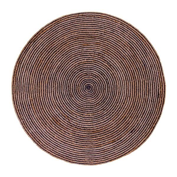 Hnedý okrúhly koberec House Nordic Bombay, ø 180 cm
