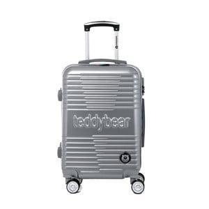 Cestovní kufr na kolečkách ve stříbrné barvě s kódovým zámkem Teddy Bear Varvara, 44 l