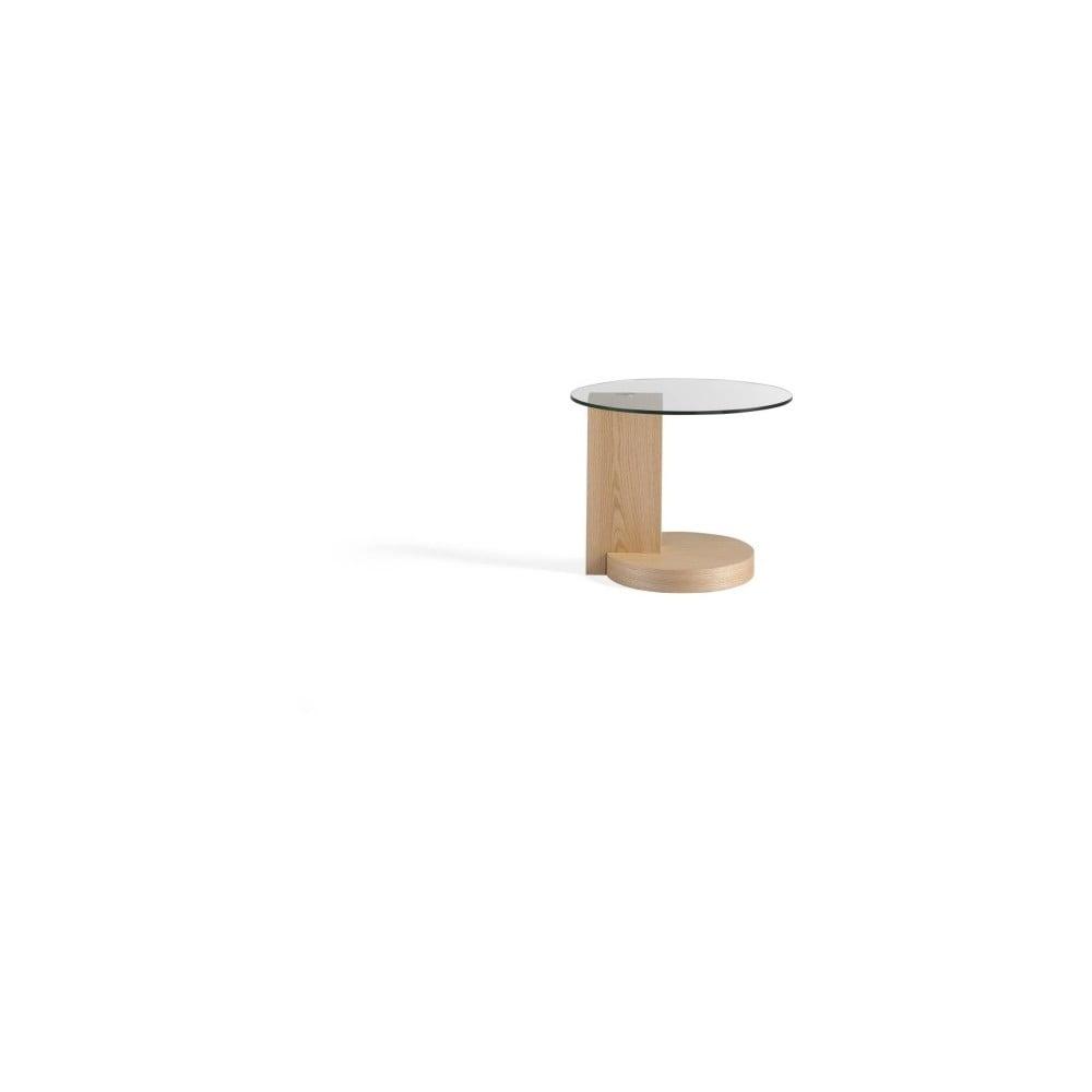 Odkládací stolek z dubového dřeva a skla Ángel Cerdá