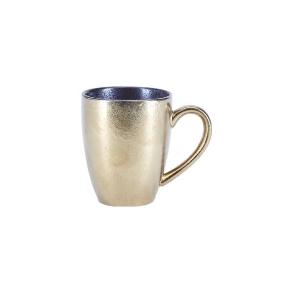 Kubek porcelanowy z uchem w złotej barwie Bahne & CO