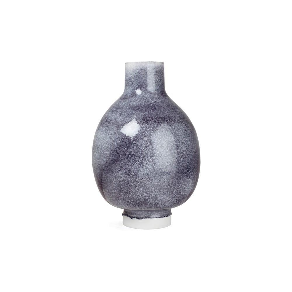 Tmavě šedá porcelánová volně stojící váza Kähler Design Unico, výška 50 cm
