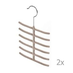 Sada 2 béžových ramínek na kravaty Domopak Living