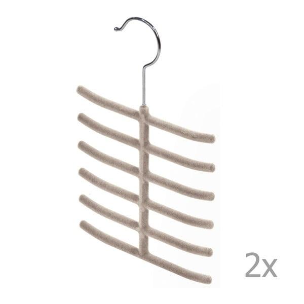 Living 2 db bézs nyakkendőtartó - Domopak