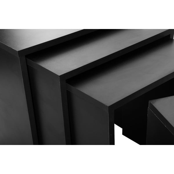 Sada 4 stolků Bonsai Black