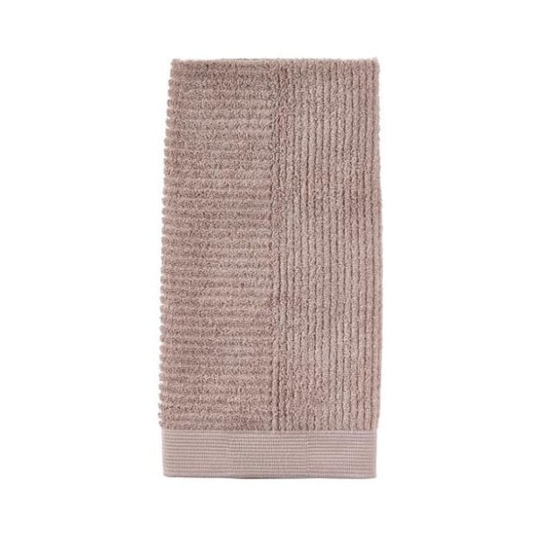 Béžový bavlněný ručník Zone Classic Nude, 50 x 100 cm