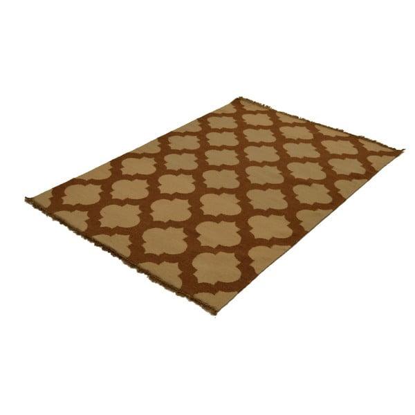 Ručně tkaný koberec Brown and Beige, 120x180 cm