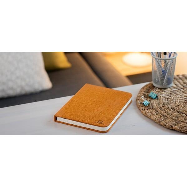 Pomarańczowa lampa stołowa LED w kształcie książki Gingko Booklight