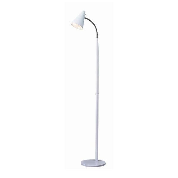 Bílá stojací lampa Herstal Duet