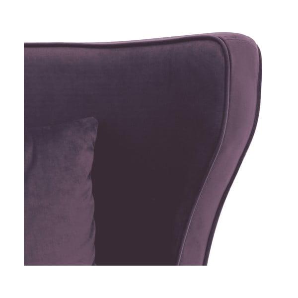 Fialové křeslo Vivonita Douglas Love Seat