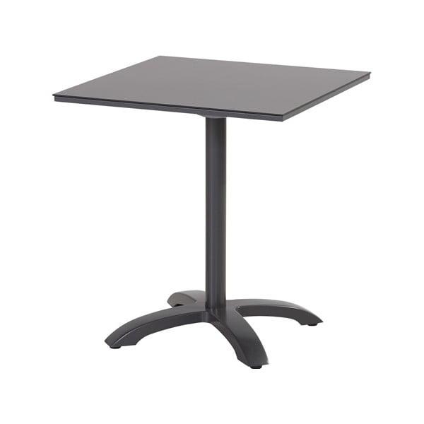 Černý zahradní jídelní stůl Hartman Romeo, 68 x 68 cm