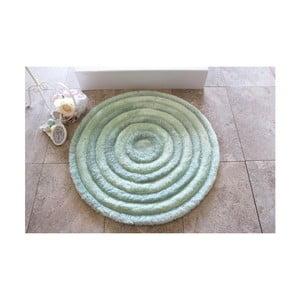 Koupelnová předložka Alessia Round Mint, Ø 90 cm
