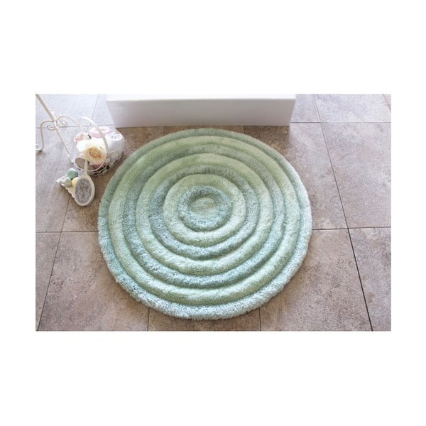 Koupelnová předložka Round Mint, ⌀ 90 cm