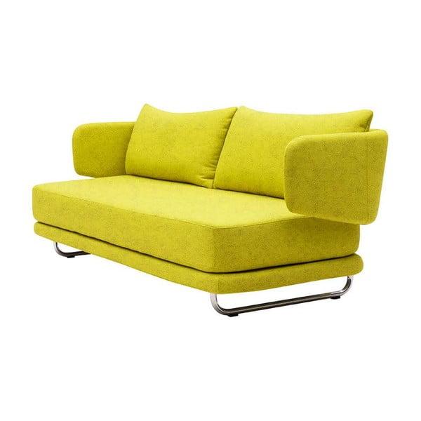 Zelenožlutá rozkládací sedačka Softline Jasper