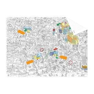 Kapesní omalovánka mapa Barcelone