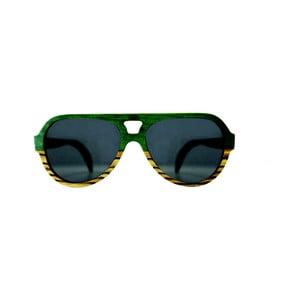 Ochelari de soare din lemn Andwe Green Bomb