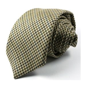 Hnědá kravata malé káro