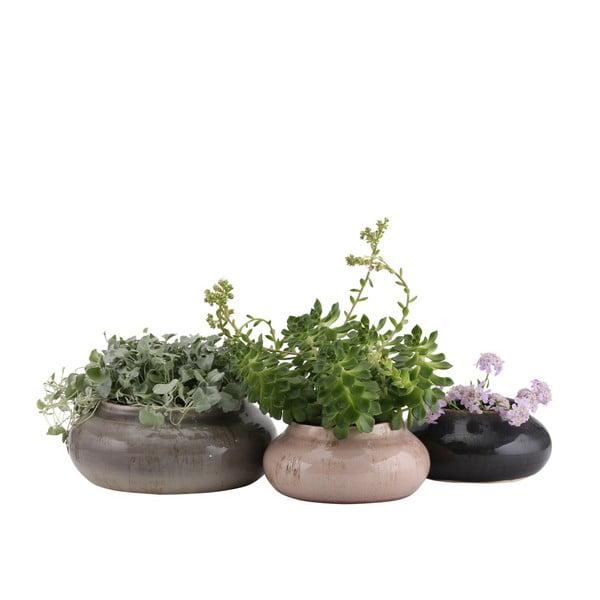 Šedý květináč A Simple Mess Beate, ⌀23cm