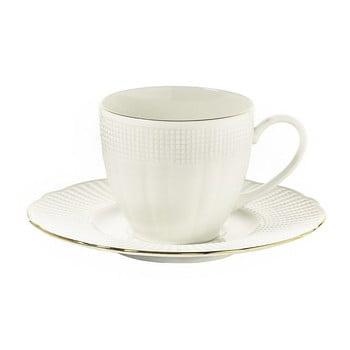 Set 6 cești din porțelan pentru cafea cu farfuriuțe Kutahya Cafe, 200 ml