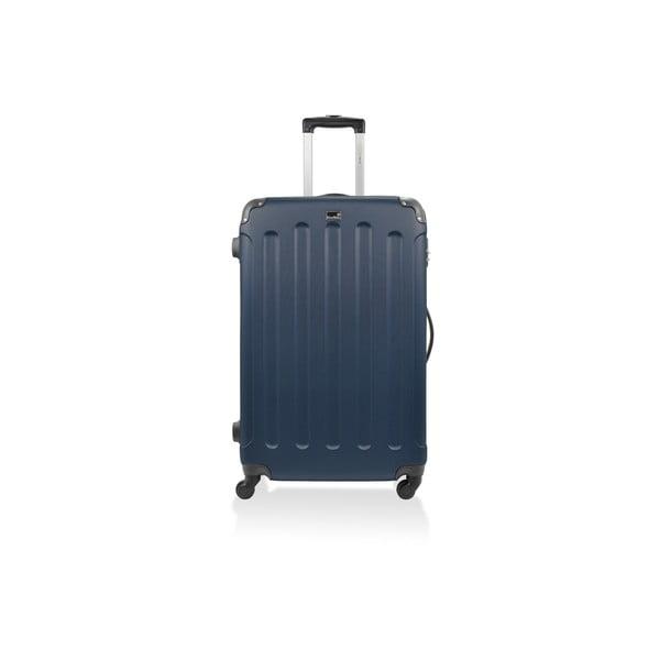 Modrý cestovní kufr na kolečkách Bluestar,46l
