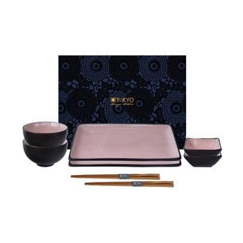 Set pentru sushi Tokyo Design Studio Glassy roz