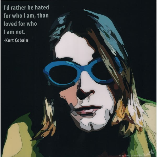 Obraz Kurt Cobain - I rather be hated