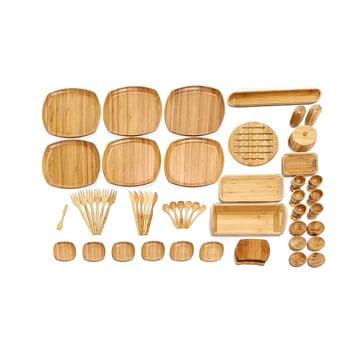 Set din bambus pentru micul dejun Bambum Ikon de la Bambum