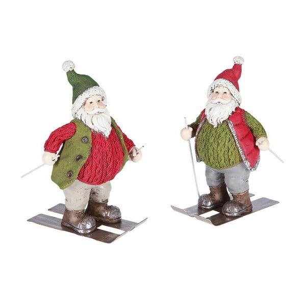 Set 2 dekorací Santa Ski