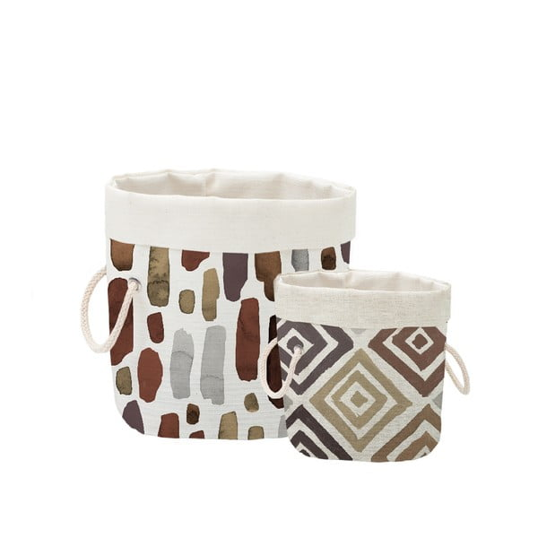 Zestaw 2 koszyków dekoracyjnych Linen Couture Watercolor Geometric