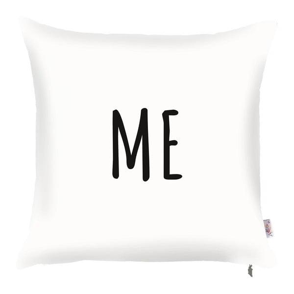 Bílý povlak na polštář Apolena Me, 43 x 43 cm