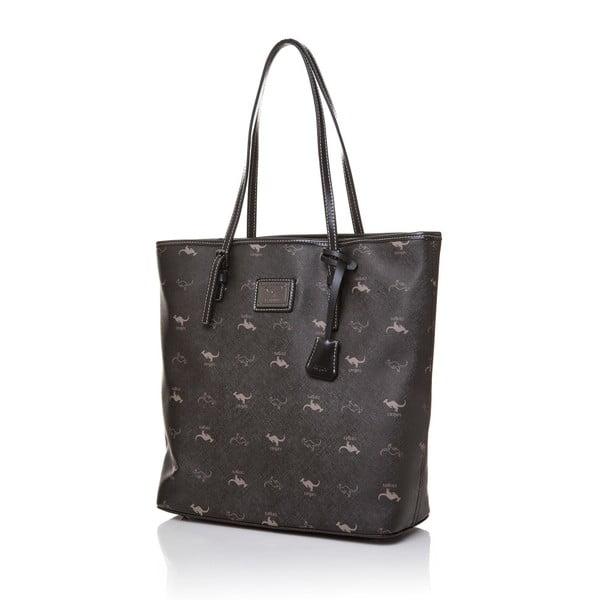 Kožená kabelka přes rameno Canguru Tag, černá