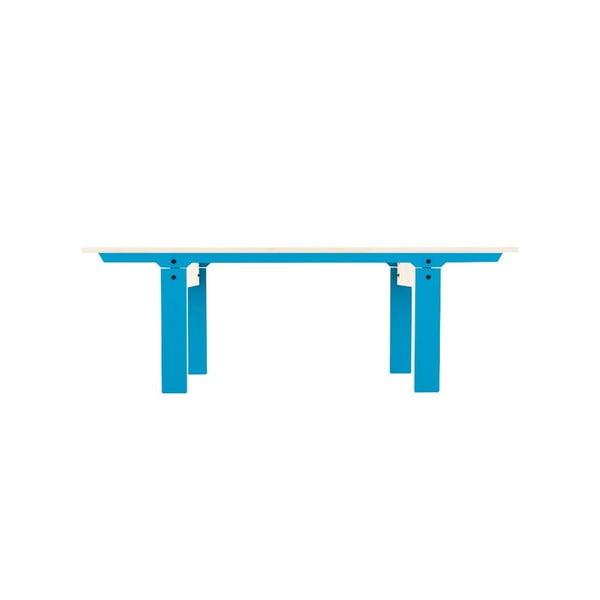 Modrá lavice na sezení rform Slim 04, délka 133 cm