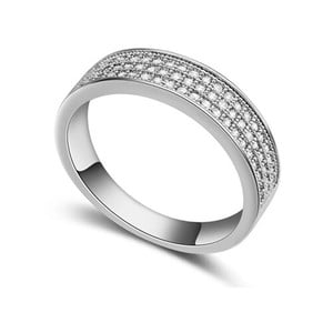Prsten s krystaly Swarovski Cubic, velikost 56