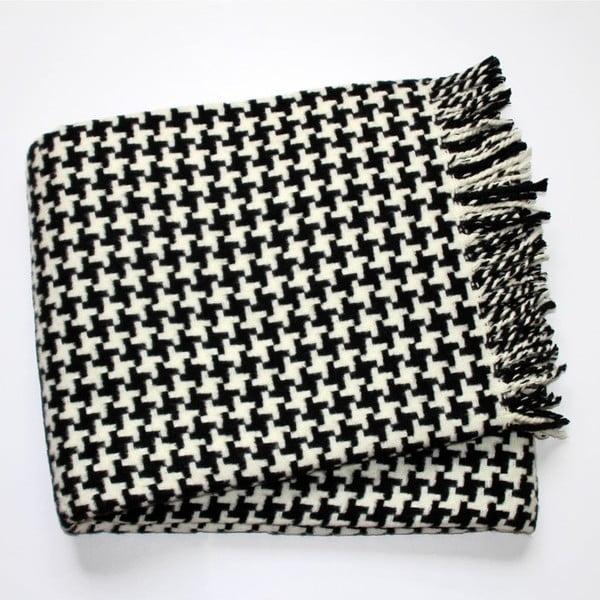 Pătură Euromant Pearls, negru/alb,140 x 180 cm
