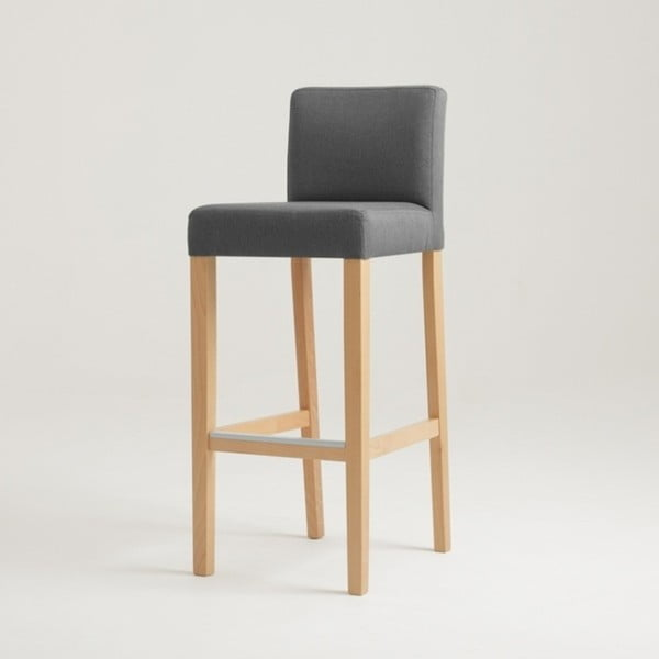 Wilton sötétszürke bárszék natúr lábakkal - Custom Form