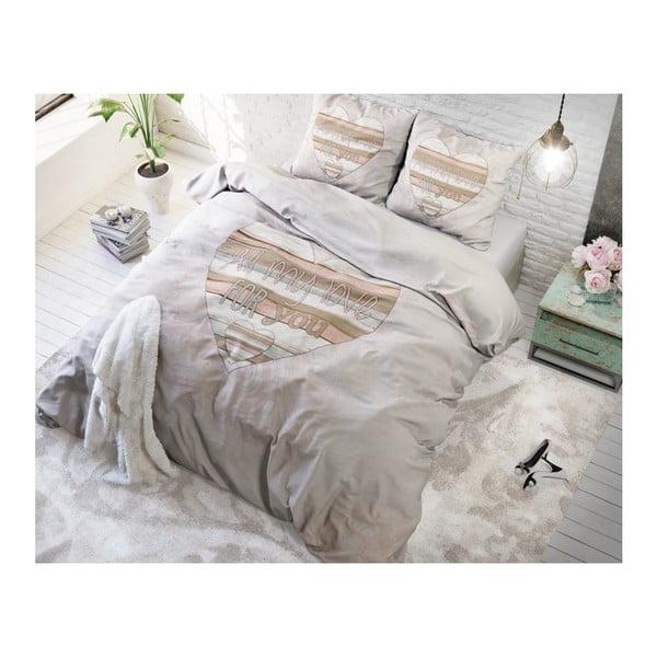 Povlečení z mikroperkálu na jednolůžko Sleeptime All My Love,140x220cm