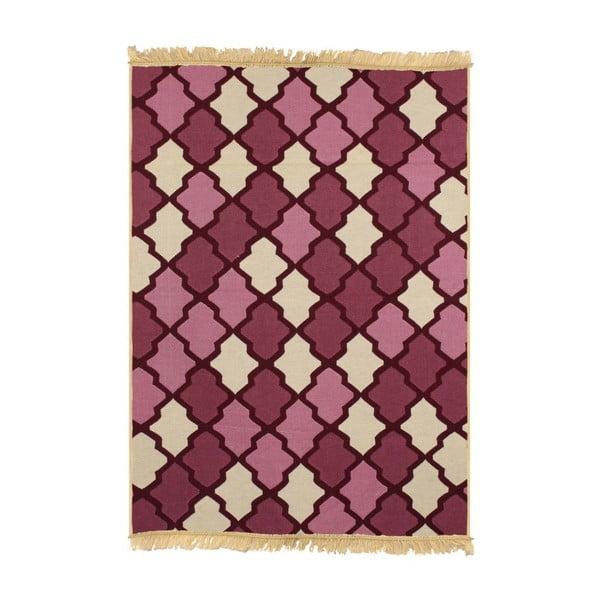 Červeý koberec Duvar Red Beige, 80x150cm