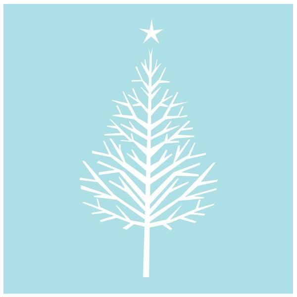 Samolepka White Nude Chritmas tree