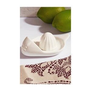Bílý porcelánový odšťavňovač citrusů Kutahya Reamer