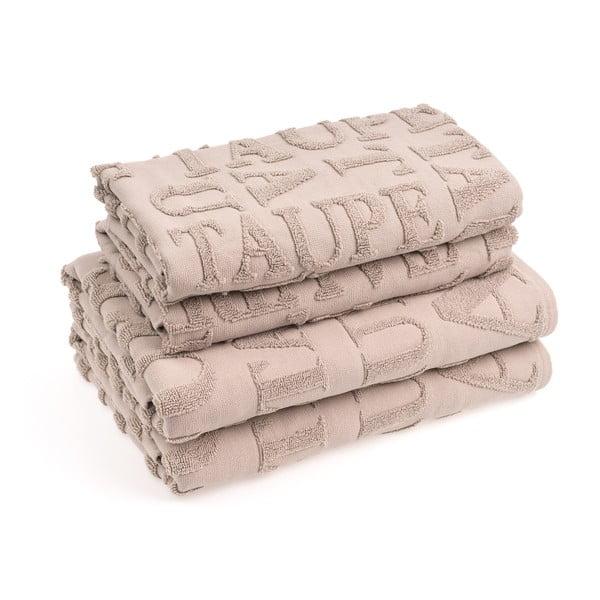 Set 2 bavlněných ručníků a 2 osušek Casa Di Bassi Ttypo