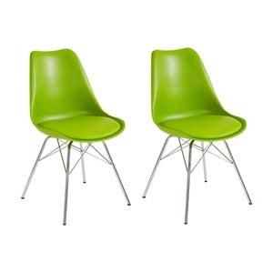 Sada 2 zelených jídelních židlí Støraa Jenny