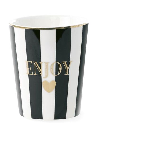 Keramický hrnek Miss Étoile Enjoy Stripe Black