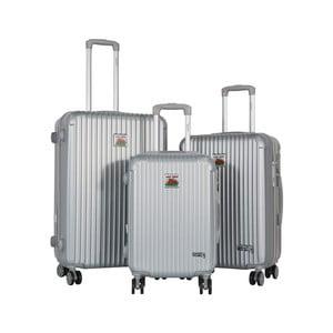 Sada 3 šedých cestovních kufrů LULU CASTAGNETTE Darwin
