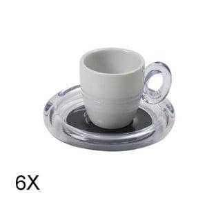 Sada 6ks šálku na espresso, šedá