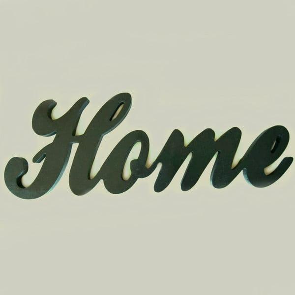 Dekorativní nápis Home, černý
