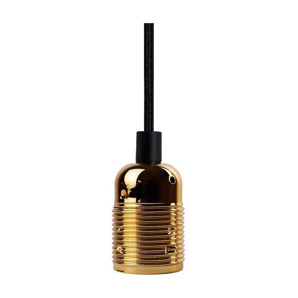 Černý závěsný kabel se zlatou objímkou Bulb Attack Uno
