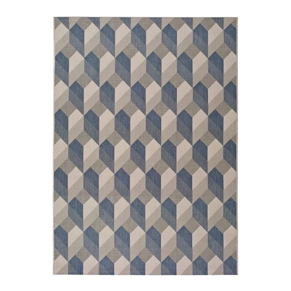 Covor pentru exterior Universal Silvana Miratta, 80 x 150 cm, albastru-bej