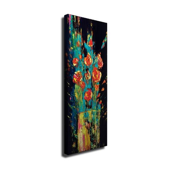 Vintage Flowers vászon fali kép, 30 x 80 cm