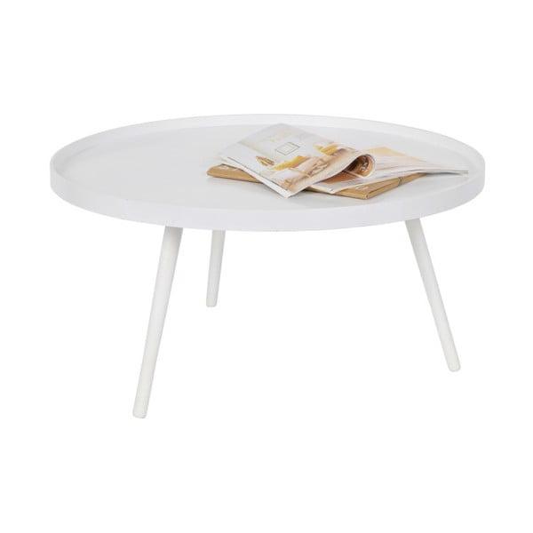 Bílý konferenční stolek WOOOD Mesa, Ø78cm